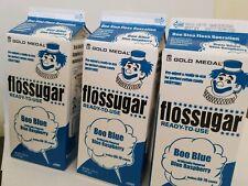 Lot Of 3 Boo Blue (Blue Raspberry) Gold Medal Floss Sugar 3.25lb Cartons