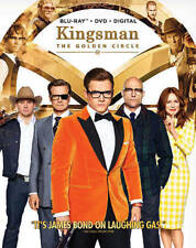 Kingsman: The Golden Circle (Blu-ray+DVD+Digital, 2017) NEW w/ Slipcover