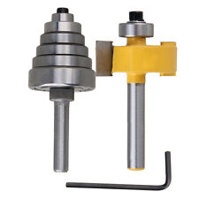 New 2Pc Cemented Carbide Rabbet Router Bits 1/4