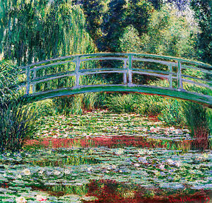 Monet 1899, Japanese Footbridge, Fade Resistant HD Art Print or Canvas