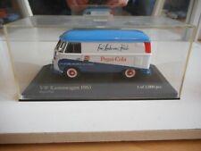 "Minichamps VW Volkswagen Transporter T1 ""Pepsi-Cola"" in White/Blue - 1:43 in Box"
