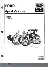 FORD 7710 Tractor Operators Manual, Series II, 1985 to 1991 w/Cab  42771011