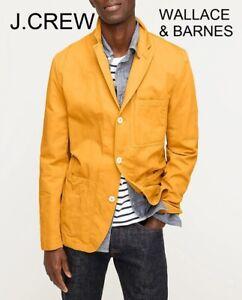 J.CREW Wallace & Barnes 36R cotton linen chore blazer yellow gold jacket 36 NWT