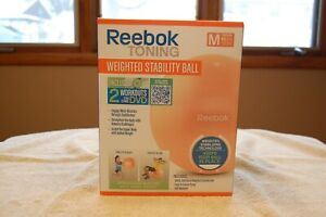 Reebok Toning Weighted Stability Ball - plus 2 workouts on 1 DVD - with pump