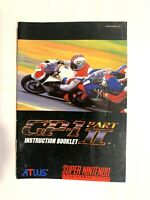 GP-1 SNES Super Nintendo Instruction Manual Only