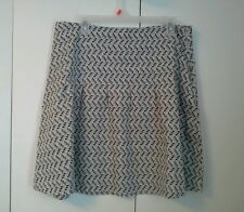 Old Navy Women's ABOVE KNEE Pleated multi color 100% Cotton Skirt 14 Geometric