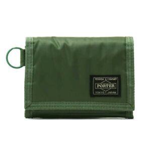 PORTER Yoshida Bag 555-06439 Tri Fold Wallet CAPSULE Khaki Japan with Tracking