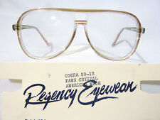 Vintage Regency Eyewear Cobra Fawn Crys 59/12 Men's Eyeglass Frame New Old Stock