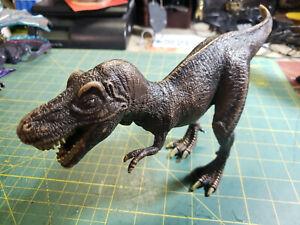 """Schleich Tyrannosaurus Rex Hard Rubber 12"""" Long 2004 Blemished"""