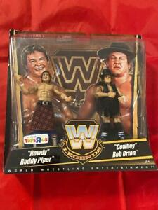 Rowdy Roddy Piper & Cowboy Bob Orton Legends Toysrus WWE Figure Wrestling Toy