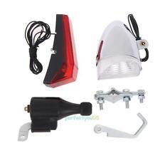 Bicycle Motorized Bike Friction Generator Dynamo Kit Head Tail Rear Light Lamp