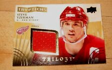 STEVE YZERMAN 2014-15 UD TRILOGY TRTYPTICHS GAME USED JERSEY#/400