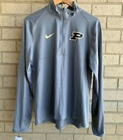 Nike Purdue Boilermakers NCAA Zip Pullover Shirt (AR7155-063) Men's Size L - NWT