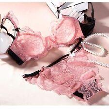 UK Size Sheer Lace Underwear Plunge Bra Sets Lingerie 32/4/6/8/40/42 A B C D/DD