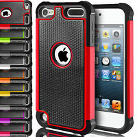 ShockProof Hybrid Silicone Armour Defender Case Cover For Apple iPod Touch 5 Gen