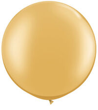 "Qualatex 30""  Metallic Gold Large Round Balloon  Wedding Party Decor prop"