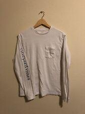 Vineyard Vines Long Sleeve Graphic Whale T-Shirt White Sz Men's Medium M