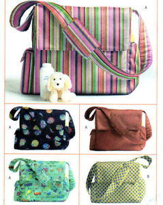 NEW Butterick 4560 Baby Toddler Organizer Diaper Bag Toys Tote Patterns