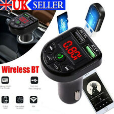 Wireless Bluetooth Car FM Transmitter MP3 Player 2 USB Charger Handsfree Kit UK