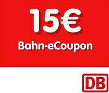 15 Euro Bahn eCoupon Gutschein Deutsche Bahn DB Coupon Rabatt DB Sofortversand