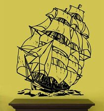 "Vinyl Wall Decal Sticker Sailboat Pirate Ship 20""x26"""