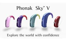 2(Lt&Rt)x New Phonak SKY Premium V90 SP/UP BTE Hearing Aids 20CH + ComPilot II