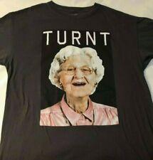 Turnt Grandma Large Gray T-Shirt Funny Granny Party Graphic Shirt