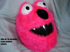 MOTORBIKE FUNNY HEEDS CRAZY CRASH HELMET COVERS MOTORCYCLE  COVER PINK ELMO