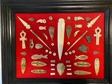 Vintage Alaskan Native American Indian Frame of Artifacts