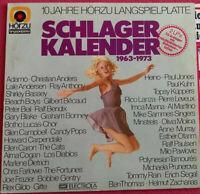 Schlager Kalender 1963-1973 Doppel LP 2-LP Vinyl Hörzu / Adamo / Bonney uvm