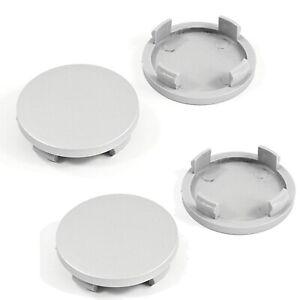 4 x Alloy Wheel Plain Center Caps Universal Rim Plastic Hub 55mm to 50mm