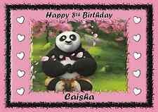 Kung fu panda personnalisé A5 anniversaire carte fils fille frère soeur nom âge