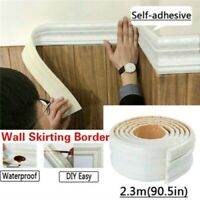DIY 3D Pattern Self Adhesive Waterproof PE Border Wall Decor Removable Sticker w