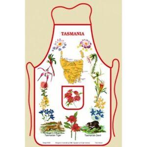 Australian Souvenir Kitchen Apron featuring Tasmania and Tasmanian Flora