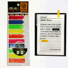 200 Sticky Text Highlighter Strips Post notes Book it Revision