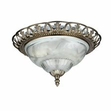 Traditional Flush Ceiling Light In Antique Brass Finish 7045-13