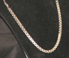 "925 Sterling Silver Heavy fancy necklace Box link Chain 61gr 5Mm 19.5"" Italy"