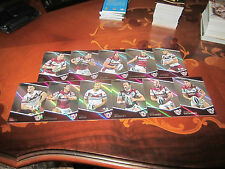 2014 NRL TRADERS MANLY SEA EAGLES PARALLEL TEAM SET 11 CARDS LYON KING STEWART