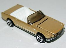 Hot Wheels 65 Mustang Convertible Gold - White Int Tint Window Sp5 Malaysia 1995