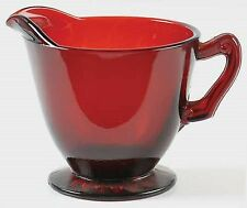 Anchor Hocking Royal Ruby RED Footed Creamer L@@K