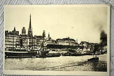 """CPA """" ROUEN - La Seine - Au fond, la Cathédrale et le Théâtre des Arts"""