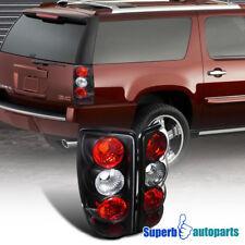 For 2000-2006 Chevy Denali Yukon Tahoe Tail Lights Brake Lamp Black