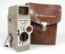 BELL   HOWELL TWO TWENTY 8MM MOVIE CAMERA IN CASE ((FOR PARTS))