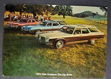 1972 Oldsmobile Station Wagon Cruisers Postcard Sales Brochure Excellent Orig 72