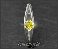 Diamant 585 Gold Damen Ring mit 0,35ct, intensiv Gelb; natürlich & unbehandelt!