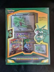 Pokemon Rayquaza Box XY64 Rare 2015 Box With Booster Packs & Promos Out Of Print