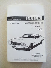 1965 - 1974 Buick GS Reference book GS 350 GS 400 GS 455 cars dealer bulletins