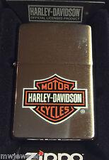 full size zippo lighter H-D HARLEY DAVIDSON LOGO NOS