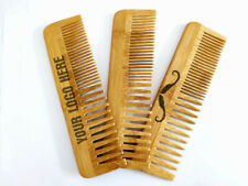 Customize Logo-Bamboo Wooden Combs Beard Care Comb Dual Kinds Tooth Wholesale