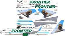 "Frontier Newest ""Walrus"" Airbus A321 airliner decals for Revell 1/144 kits"